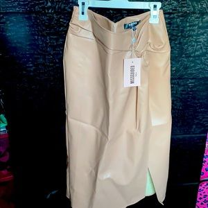 Faux wrap midi skirt (tall)
